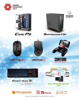 """77cf7832832 Taipei, Taiwan - February 17th, 2017- Thermaltake and Thermaltake Gamiming Tt  eSPORTS won the """"25th Annual Taiwan Excellence Award of 2017"""" with seven ..."""