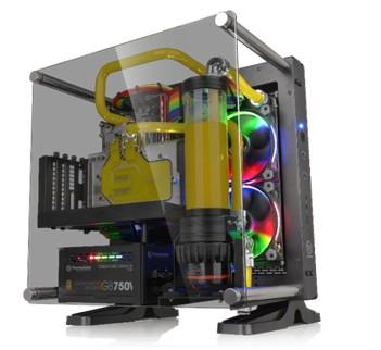 thermaltake global thermaltake new core p1 tempered glass