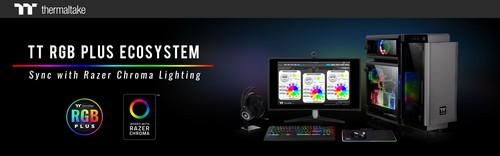 Thermaltake TT RGB PLUS Ecosystem Syncs with Razer Chroma Lighting