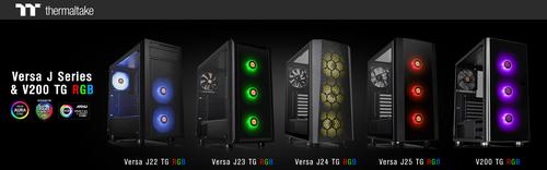 Thermaltake Unveils Versa J Series & V200 TG / TG RGB Edition Mid