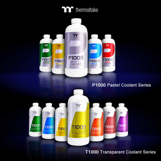 Thermaltake New Coolant P1000 Pastel and T1000 Transparent