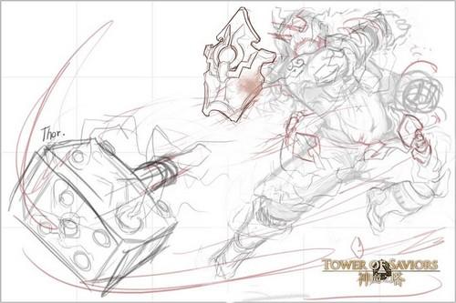 雷神简笔画-神魔之塔 4.6版本 无尽的黄昏 改版资讯 北欧神 潜能解放